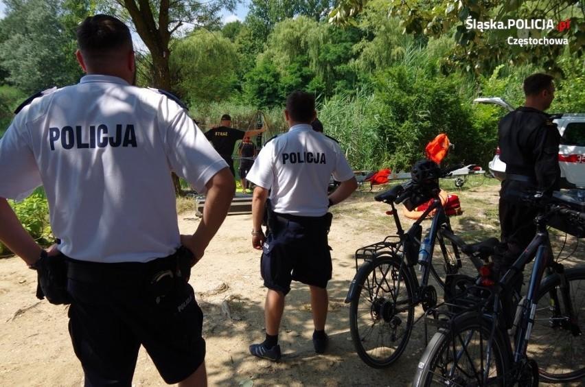 Strażacy wyłowili ciało 87-latka z zalewu w Częstochowie....