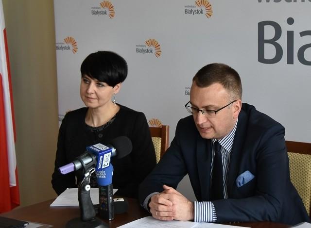 Ewa Mituła i wiceprezydent Białegostoku Rafał Rudnicki