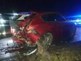 Wypadek dwóch samochodów osobowych w Smogulcu pod Gołańczą. Zobacz zdjęcia