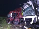 Łążek, powiat sandomierski. Zderzenie dwóch samochodów ciężarowych na drodze krajowej numer 9. Jeden z kierowców pijany