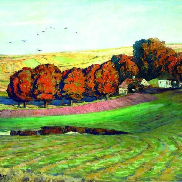 """""""Jesień"""" Leistikow namalował około 1905 roku."""