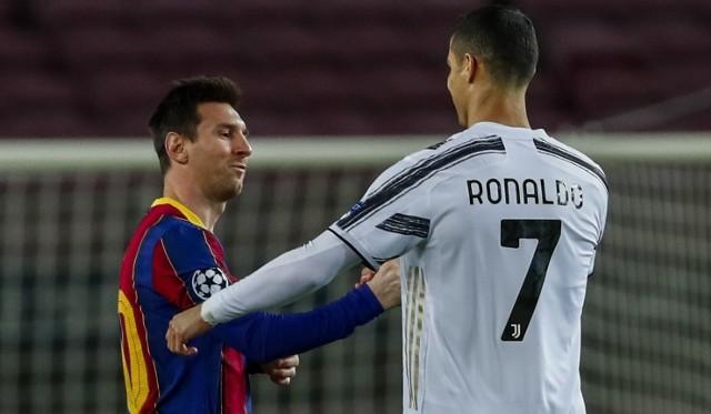 Dla Lionela Messiego jedynym miłym momentem meczu z Juventusem było przywitanie z Cristiano Ronaldo.