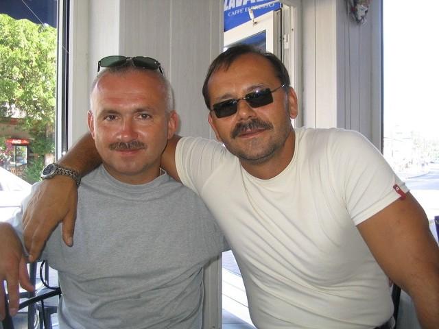 Na zdjęciu od lewej Lech Piasecki i Marek Łbik.