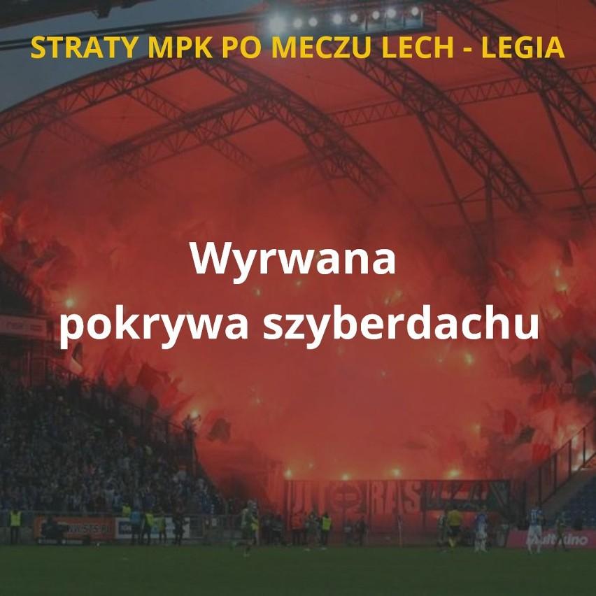 MPK Poznań podliczyło straty po niedzielnym meczu Lech -...