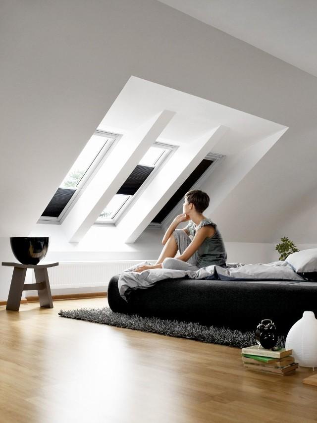 Energooszczędna roleta wewnętrzna firmy VeluxEnergooszczędna roleta wewnętrzna chroni przed zimnem.