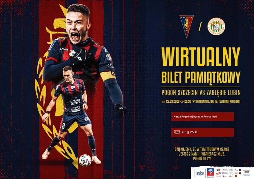 Wirtualny bilet na mecz Pogoni z Zagłębiem Lubin