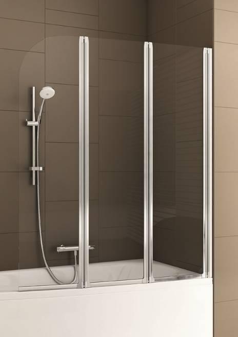 Parawan nawannowy Modern firmy AquaformPrezentowany parawan zamontowany na wannie rozkłada się w harmonijkę.