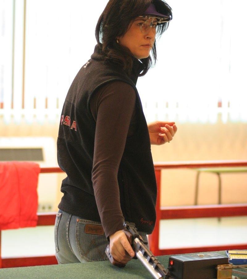 Mirosława Sagun-Lewandowska w trakcie treningu.