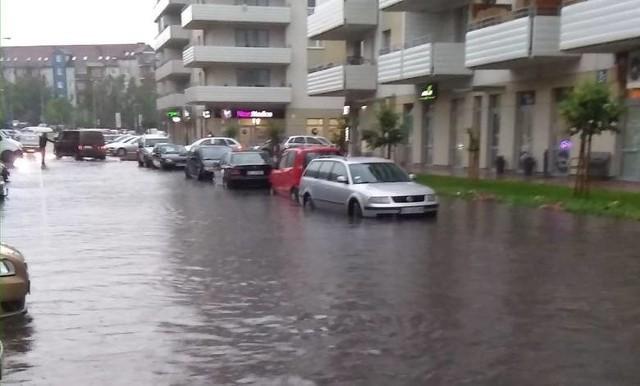 Tak wyglądała ul. Zachodnia po ulewie z 28 maja.