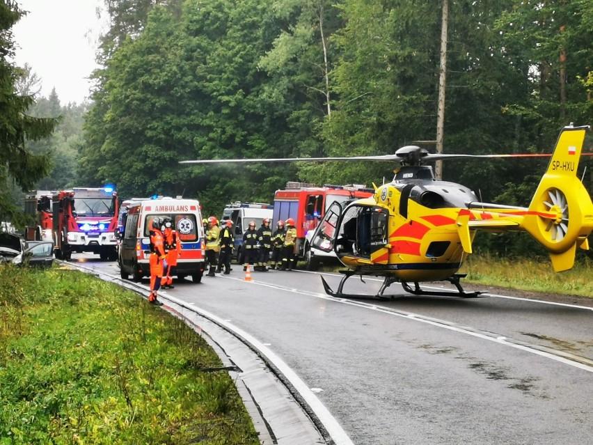 Wypadek na DK11 w okolicach miejscowości Przydargiń