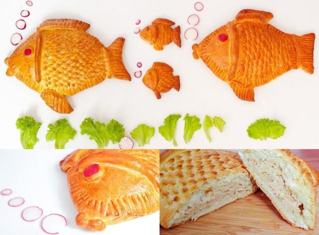 Faszerowana ryba z ciasta