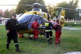 Śmigłowiec LPR lądował w centrum Wrocławia, bo zabrakło wolnych karetek (ZDJĘCIA)