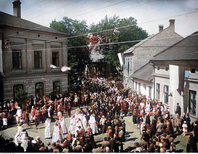 Żywiec sprzed lat. Zdjęcia zostały pokolorowane z oryginalnych zdjęć Narodowego Archiwum Cyfrowego.