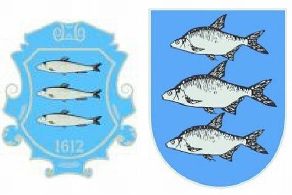 Internauci wybrali historyczną (z lewej) wersję herbu.