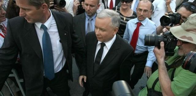 Jarosław Kaczyński odwiedził dzisiaj Białystok.