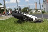 Motocyklista został ranny w wypadku w Borku pod Lipnem. A sezon motocyklowy dopiero się rozpoczyna...