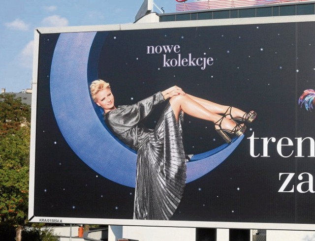 Szczuplutka Kożuchowska na reklamach Bonarka City Center. Billboardy wiszą w całym Krakowie.