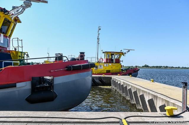Oficjalne oddanie do użytku dwóch nowych lodołamaczy mających operować na rzece Wiśle, 18.06.2021