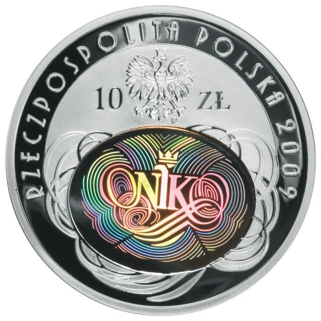 Tak wygląda awers srebrnej 10-złotówki wybitej z okazji 90. rocznicy NIK