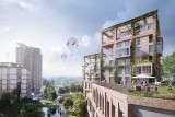 Nowy Wełnowiec w Katowicach. Co się dzieje na budowie nowej dzielnicy? Rok po prezentacji projektu i wizualizacji jest małe opóźnienie