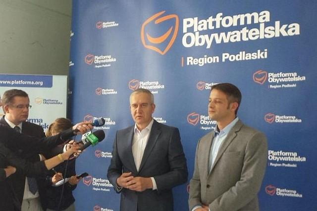 Robert Tyszkiewicz będzie walczył o miejsce w Sejmie. Obok niego - Tomasz Cimoszewicz