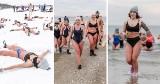 Morsowanie z Igorem Janikiem na plaży w Gdańsku! W Jelitkowie śmiałkowie kąpali się w zimowej scenerii [zdjęcia]