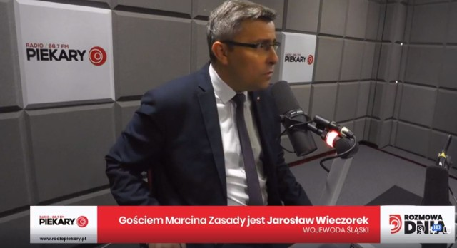 Jarosław Wieczorek, wojewoda śląski, był porannym gościem Marcina Zasady