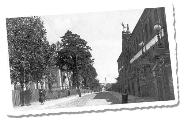Zdjęcie fabryki Beckera z około 1930 roku. Ze zbiorów Muzeum Podlaskiego w Białymstoku