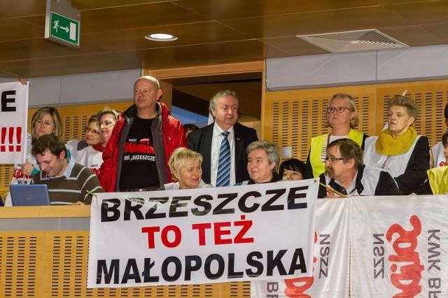 Protest w sprawie obrony kopalni Brzeszcze
