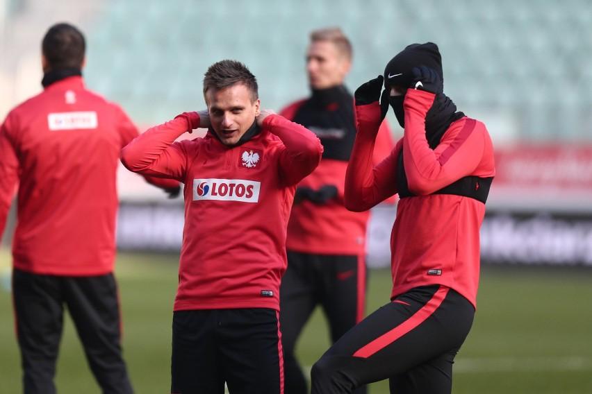 Reprezentacja Polski odbyła trening na stadionie we...
