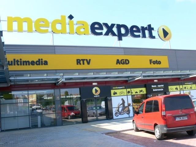 Największym sklepem w centrum handlowym będzie Media Expert, sprzedający sprzęt elektroniczny i gospodarstwa domowego.  (fot. Mateusz Bolechowski )