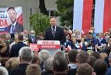 Wiec wyborczy Andrzeja Dudy w Wieluniu był nielegalnym zgromadzeniem? ZDJĘCIA, FILMY
