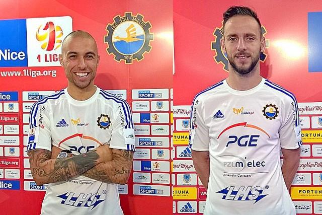 Momchil Tsvetanov (z lewej) i Dejan Djermanović to nowi piłkarze Stali Mielec