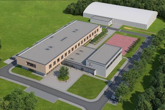 Tak ma wyglądać nowa szkoła, która powstanie przy ulicy Jedynaka w Wieliczce. Budowa obiektu dla ok. 500 uczniów rozpocznie się jeszcze w marcu. Kompleks nazwany centrum dydaktyczno-konferencyjnym ma być gotowy na wrzesień 2022 roku