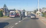 Sokółka. Wypadek karetki. Ambulans zderzył się z samochodem osobowym (zdjęcia)