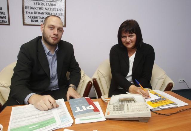 Inspektorzy Małgorzata Budniak i Rafał Buńkiewicz podczas redakcyjnego dyżuru odpowiadają na pytania podatników.