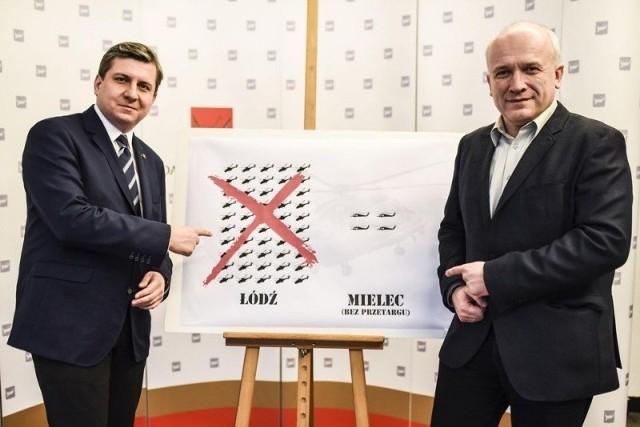 Radni Kacprzak i Walasek podkreślali ile Łódź straciła na zerwaniu umowy z Airbusem.