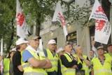 Pikieta w Warszawie. Górnicy JSW żądają dymisji ministra energii