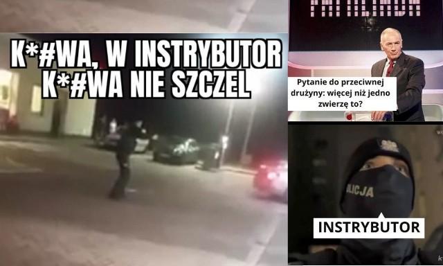 """""""Nie strzel w INSTRYBUTOR!"""" Brawurowa akcja policji hitem sieci i MEMÓW"""