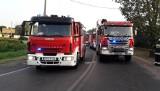 Groźny wypadek w Lutomiersku. Skoda zderzyła się z ciężarówką [ZDJĘCIA]