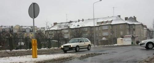 Niebezpieczne miejsce przy ul. Paderewskiego.