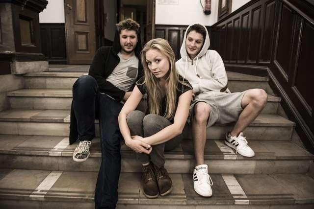 Jeremiasz Gzyl, Sylwia Drzycimska i Kacper Andrzejewski przed próbą