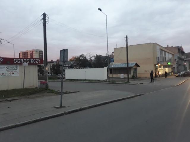 Miejskie targowisko w Stargardzie od strony ulicy Reja.