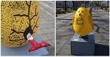 Ktoś zniszczył gigantyczne pisanki z Alei Kwiatowej w Szczecinie