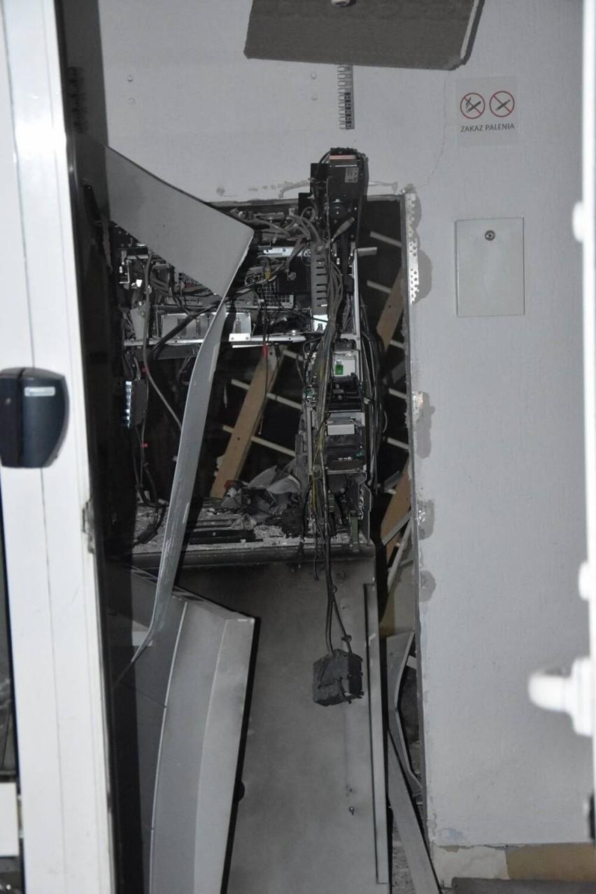 Wybuch bankomatu przy ul. Chłapowskiego w Śremie.