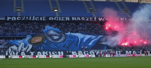 Ostatnie oprawy meczowe z użyciem rac na stadionie Lecha Poznań.