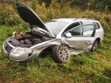 Wypadek na drodze krajowej nr 11 w miejscowości Gwizd. Zderzyły się dwa pojazdy [ZDJĘCIA]