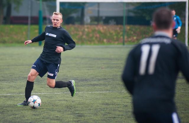 Damian Kubera (Sokół) zdobył bramkę na 1:0