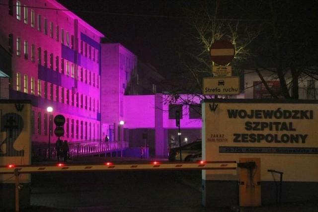 Wojewódzki Szpital Zespolony w Kielcach, jak co roku zaświeci się na fioletowo.