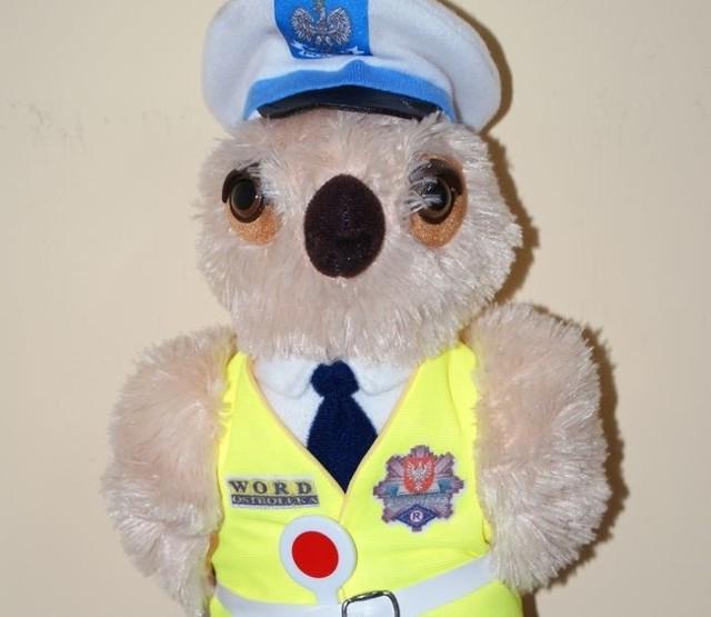 Tak wygląda maskotka mazowieckiej drogówki. A jak będzie wyglądała maskotka ostrołęckiej policji?